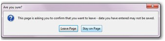 "A popup screen will appear confirming that you wish to exit the upload page. Click on the ""Leave Page"" option to exit."