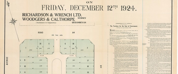 This was the first auction of commercial land in Canberra City.