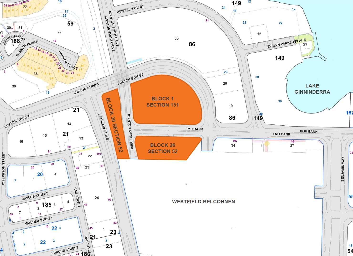 Map 1: Sites for future sale and urban renewal
