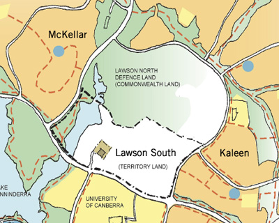 Map of Lawson